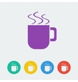cup flat circle icon vector image