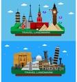 famous world landmarks vector image