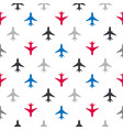 seamless pattern with color flat planes vector image