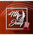 4th july usa independence day vector image vector image