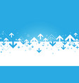 abstract blue and white arrows and financial vector image vector image