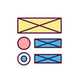 app wireframe rgb color icon