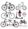 biciklo varijante2 vector image vector image