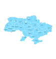 blue ukraine map with pin on white background vector image vector image