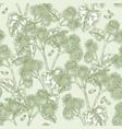 burdock plant seamless pattern hand drawn burdock vector image vector image