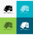 business hand money earn dollar icon over various vector image