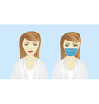cartoon doctorIsolated on blue background vector image