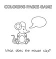 cartoon mouse coloring book vector image vector image