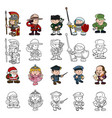cartoon people set vector image vector image