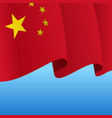 chinese flag wavy abstract background vector image
