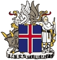 coat of arms of Iceland vector image vector image