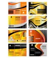 collection of tri-fold brochure design vector image