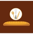 Cookware and baguette vector image vector image