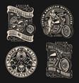 custom motorcycle vintage labels vector image vector image