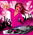Dj girl vector | Price: 3 Credits (USD $3)