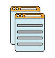 document files isolated icon vector image vector image