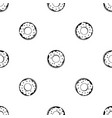 donut pattern seamless black vector image vector image