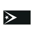Flag of East Timor monochrome on white background vector image