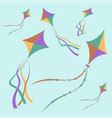 fly kite in sky vector image
