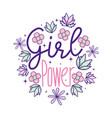 girl power cute cartoons vector image vector image