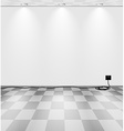 Grey room with cord vector image vector image