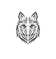 hand drawn wolf vector image