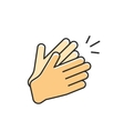 hands clapping icon applause vector image
