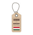 hang tag made in hungary with flag icon isolated vector image vector image