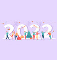 happy new year 2022 poster with numbers and party vector image
