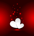 heart background in red background vector image vector image