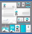 hiking sport wear logo vector image vector image