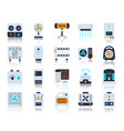 hvac simple flat color icons set vector image vector image