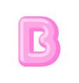 letter b candy font caramel alphabet lollipop vector image vector image