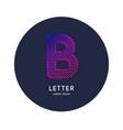 letter b latin alphabet display vector image vector image