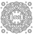 love coloring page vector image vector image