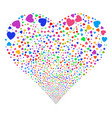love heart fireworks heart vector image vector image