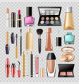 makeup cosmetics woman make-up skincare accessory vector image vector image