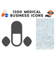 male power pills icon with 1300 medical business vector image vector image