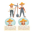 man and woman farmers talking vector image vector image