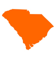 Map of South Carolina vector image vector image