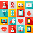 medicine health colorful icons vector image vector image