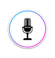 microphone icon isolated on white background on vector image vector image