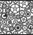 monochrome clockwork seamless pattern vector image