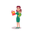mother reading a book with baby in her arms vector image vector image