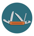multifunctional pocket knife icon flat design of vector image