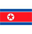 north korean flag vector image