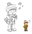 numbers game boy singing a christmas song vector image vector image