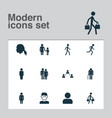 person icons set collection of scientist network vector image vector image