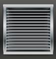 Photorealistic bathroom ventilation window vector image