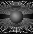 physics - anomalous black hole phenomenon warp vector image vector image